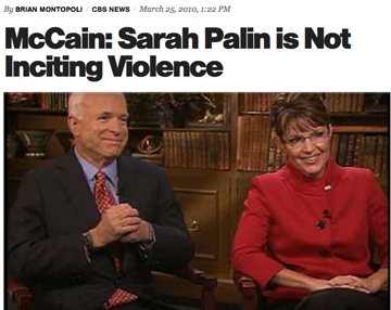 McCaine Supports Palin