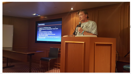 Dr. Andrew Wakefield presenting on the Conspirasea Cruise. January 30, 2016