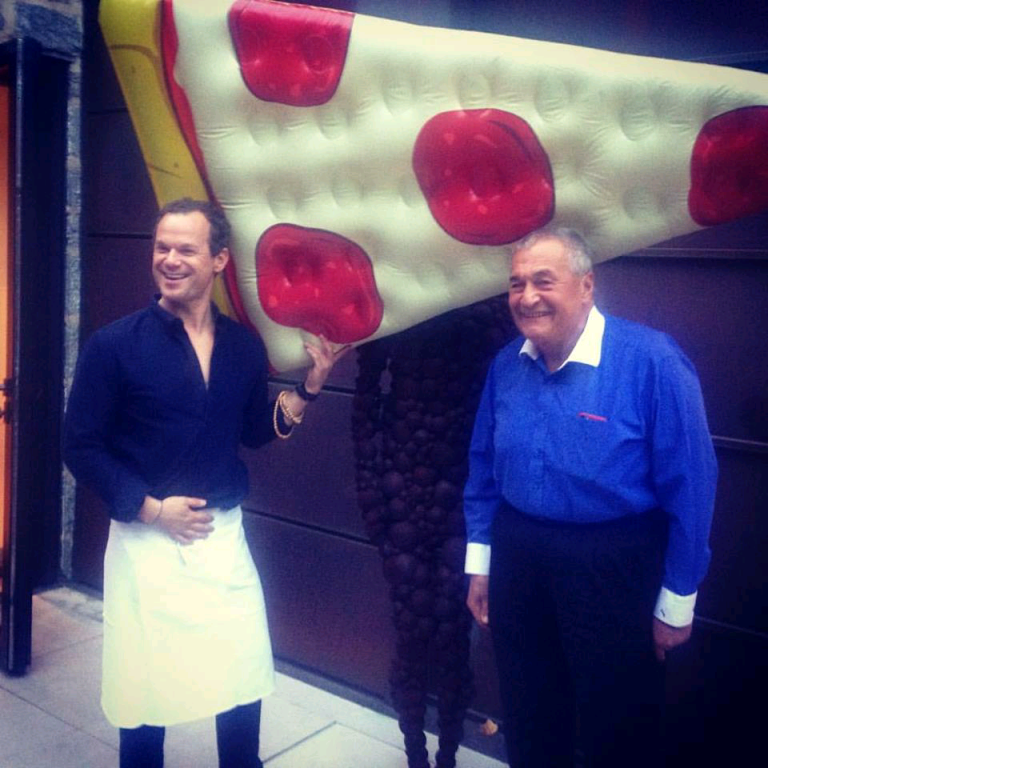 James Alefantis and Tony Podesta celebrating birthdays together